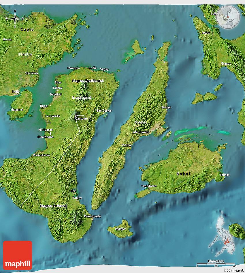 Satellite 3D Map Of Region 7