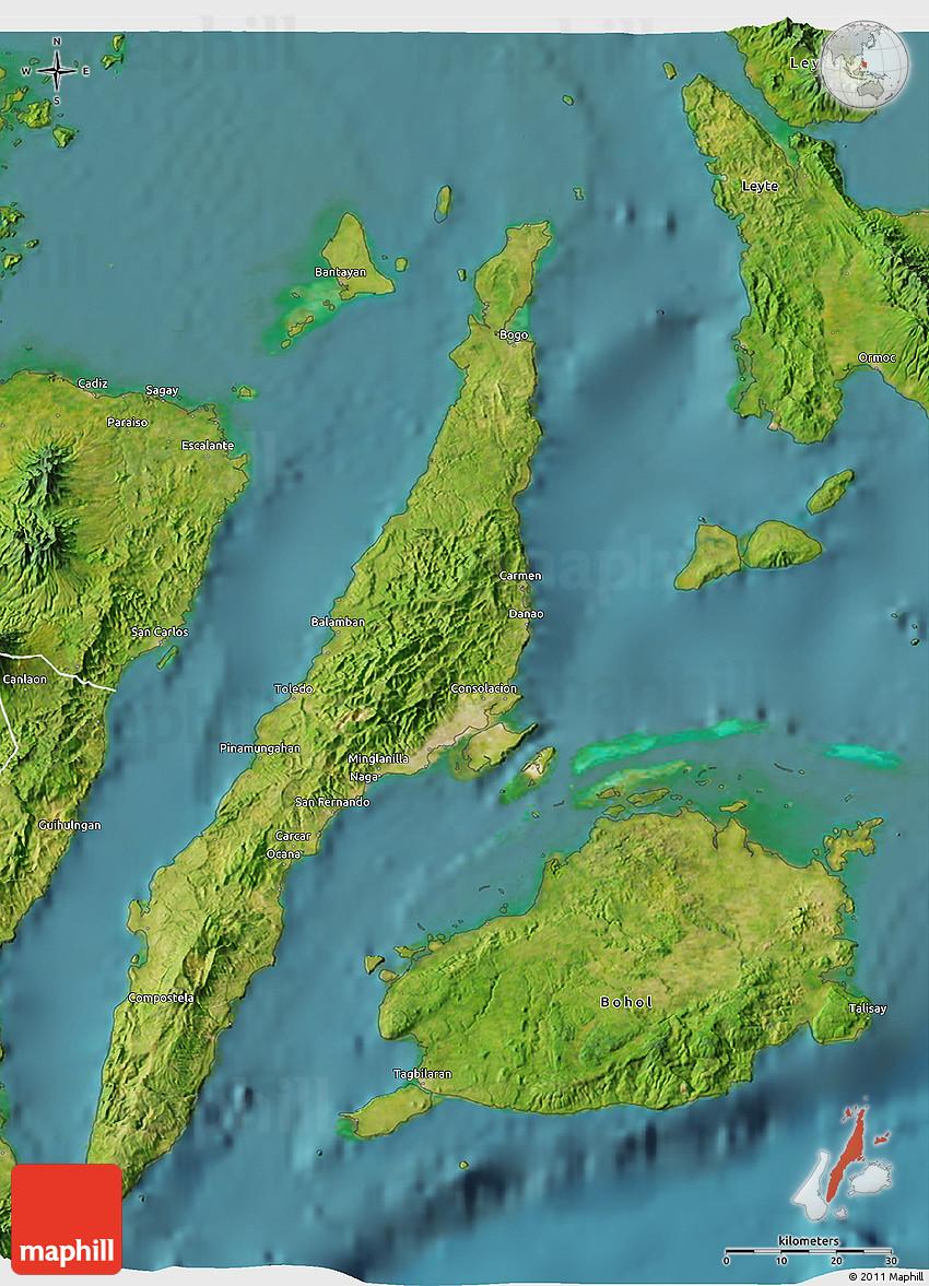 Satellite 3D Map of Cebu