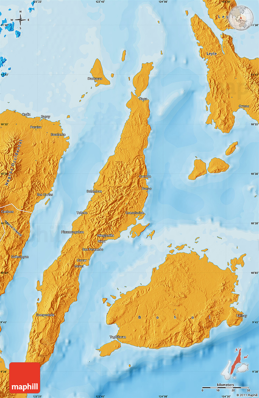Political Map Of Cebu
