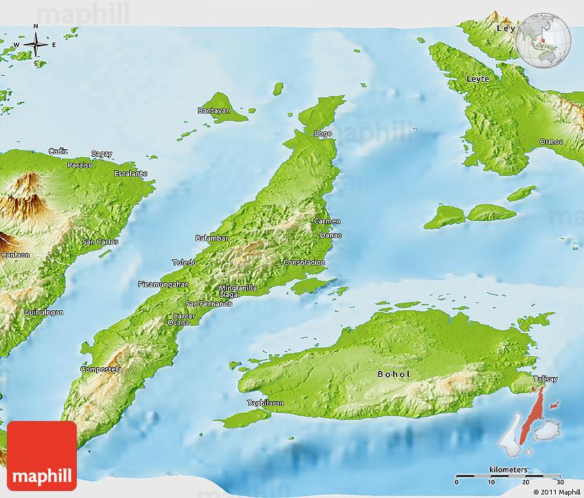 Cebu Map Satellite Kado Unik