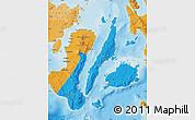 Political Shades Map of Region 7