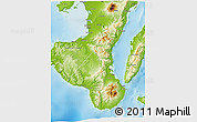 Physical 3D Map of Negros Oriental