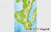 Physical Map of Negros Oriental