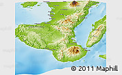 Physical Panoramic Map of Negros Oriental