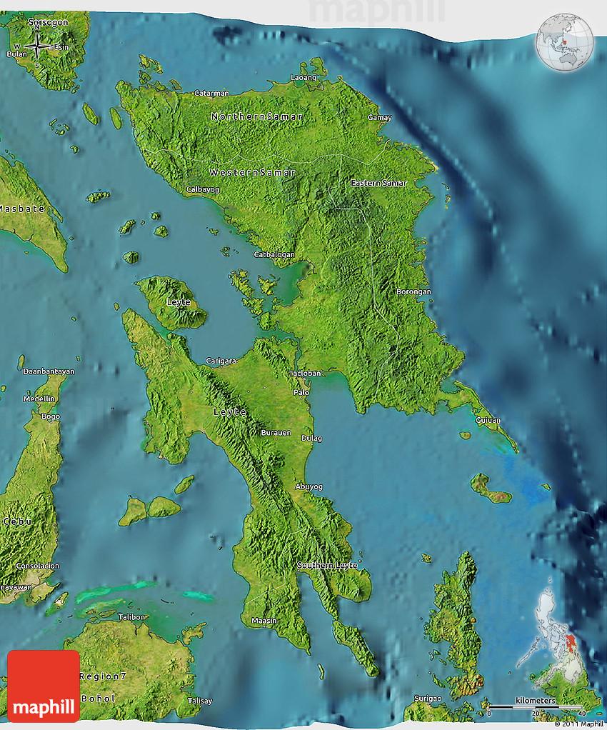 Satellite 3D Map Of Region 8
