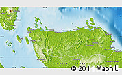 Physical Map of Northern Samar