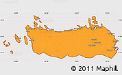 Political Simple Map of Northern Samar, cropped outside