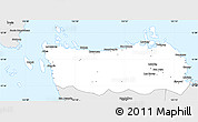 Silver Style Simple Map of Northern Samar