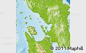 Physical Map of Western Samar