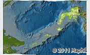 Physical 3D Map of Region 9, darken