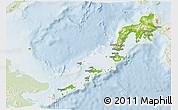 Physical 3D Map of Region 9, lighten