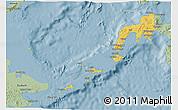 Savanna Style 3D Map of Region 9