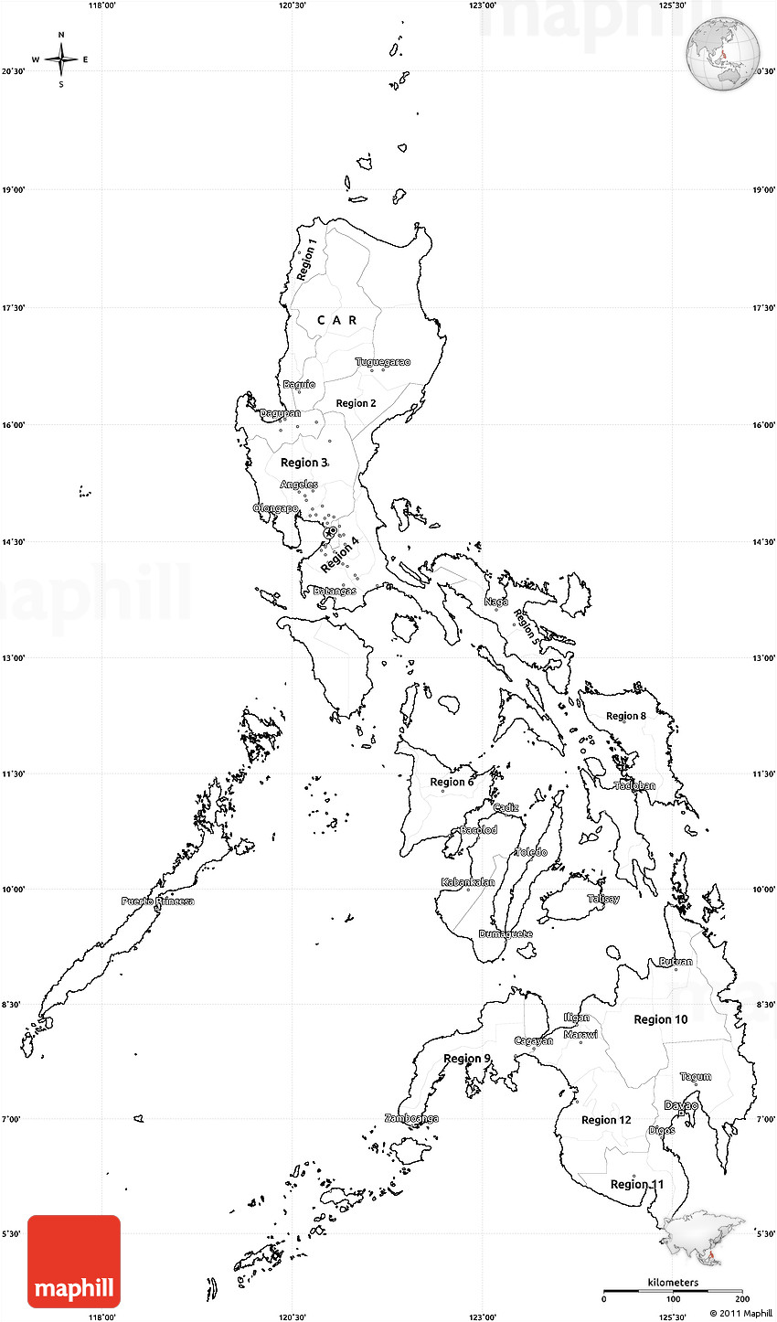 philippine map clipart black and white - photo #20