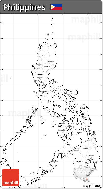 Free Blank Simple Map Of Philippines