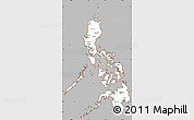 Gray Simple Map of Philippines, cropped outside