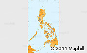 Political Shades Simple Map of Philippines, political outside