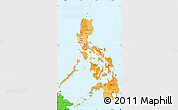 Political Shades Simple Map of Philippines