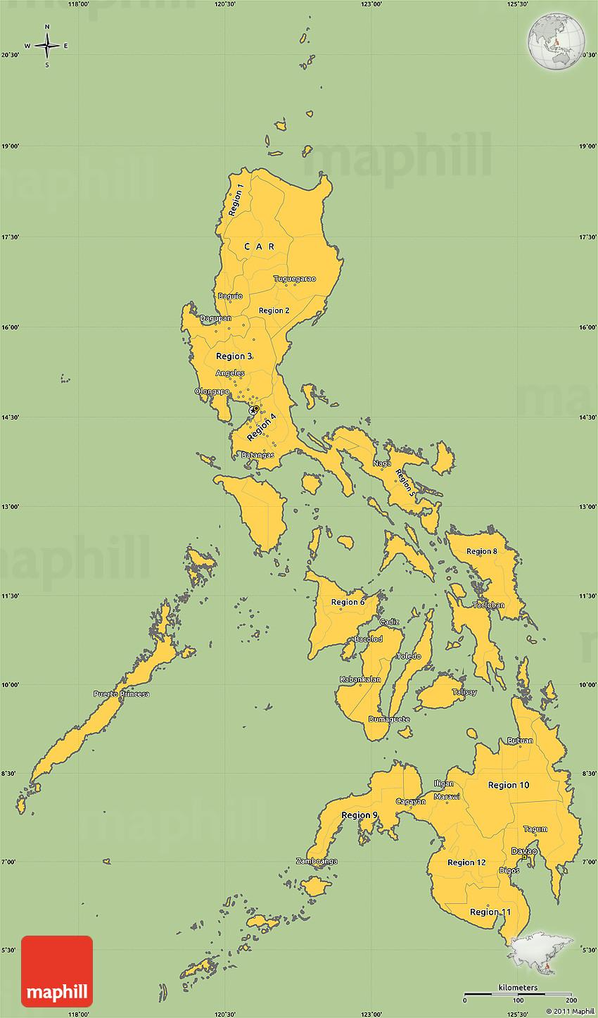 Savanna Style Simple Map of Philippines, cropped outside on simple map of fiji, simple map of usa, simple map of taiwan, simple map of belarus, simple map of nicaragua, simple map of the philippines, simple map of dominican republic, simple map of serbia, simple map of uk, simple map of hungary, simple map of sudan, simple map of andorra, simple map of kazakhstan, simple map of grenada, simple map of california, simple map of slovenia, simple map of chad, simple map of pakistan, simple map of united arab emirates, simple map of cambodia,