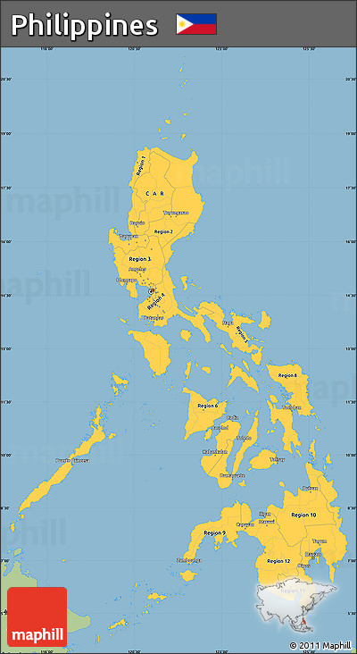 Simple Philippines Map.Free Savanna Style Simple Map Of Philippines