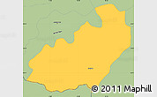 Savanna Style Simple Map of Jelenia Gora I