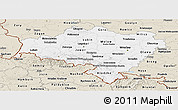 Classic Style Panoramic Map of Dolnoslaskie