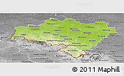 Physical Panoramic Map of Dolnoslaskie, desaturated