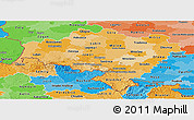 Political Shades Panoramic Map of Dolnoslaskie