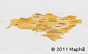 Political Shades Panoramic Map of Dolnoslaskie, single color outside