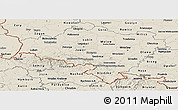 Shaded Relief Panoramic Map of Dolnoslaskie