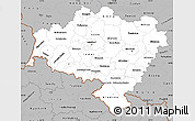Gray Simple Map of Dolnoslaskie