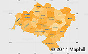 Political Shades Simple Map of Dolnoslaskie, single color outside