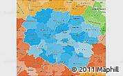 Political Shades Map of Kujawsko-Pomorskie