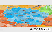 Political Shades Panoramic Map of Kujawsko-Pomorskie
