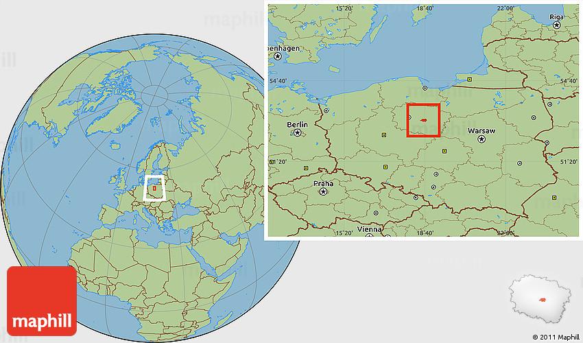Savanna Style Location Map of Torun