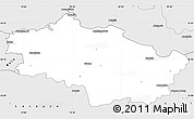 Silver Style Simple Map of Kutno