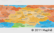 Political Shades Panoramic Map of Lodzkie