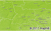 Physical 3D Map of Poddebice