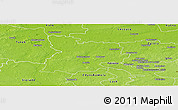 Physical Panoramic Map of Poddebice