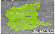 Physical Panoramic Map of Lubuskie, desaturated