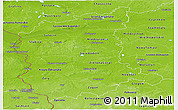 Physical Panoramic Map of Lubuskie