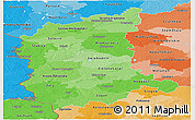 Political Shades Panoramic Map of Lubuskie