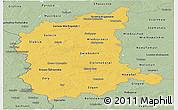 Savanna Style Panoramic Map of Lubuskie