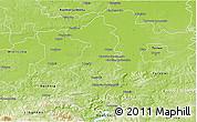 Physical 3D Map of Brzesko