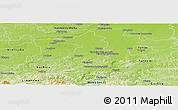 Physical Panoramic Map of Brzesko