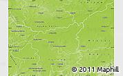 Physical Map of Dabrowa Tarnowska