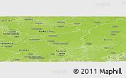 Physical Panoramic Map of Dabrowa Tarnowska