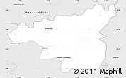 Silver Style Simple Map of Dabrowa Tarnowska