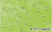 Physical 3D Map of Kazimierza Wielka