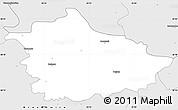Silver Style Simple Map of Kazimierza Wielka