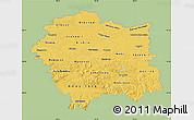 Savanna Style Map of Malopolske, single color outside